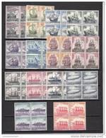 España Nº 1599 Al 1612 En Bloque De Cuatro - 1961-70 Unused Stamps