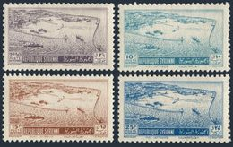 Syria C158-C161,MNH.Michel 596-599. Port Of Latakia,1950. - Ships