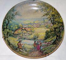 RARE TRES ANCIENNE ASSIETTE DECORATIVE ARTISTE PEINTRE PEIGNANT PERSONNAGES BE - Ceramics & Pottery
