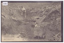 MONTCEAU LES MINES - CARRIERE ST FRANCOIS - B ( AMINCI AU DOS DU A L'ARRACHAGE DU TIMBRE ) - Montceau Les Mines