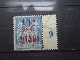 VEND BEAU TIMBRE DE ZANZIBAR N° 22 , SURCHARGE CARMIN , (X) !!! - Zanzibar (1894-1904)