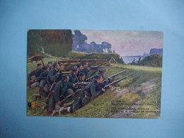 Guerre 1914 /18  -  En Guerre  -  Belges En Embuscade Sur L'Yser  -  BELGIQUE - Manoeuvres