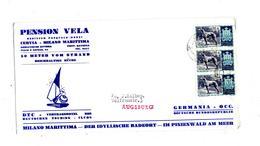 Lettre Cachet  ? Sur Levrier Entete Hotel Pension Vela - Saint-Marin