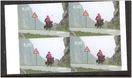 Norge Norway 2004 Europe Cept: Vacation, Cycling In The Lofoten, 1497 Bloc Of Four, MNH(**)7 - Unused Stamps