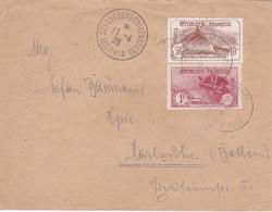 """Lettre Avec Timbres """"Orphelins De La Guerre"""" Timbres N° 153 (attention état) + Timbre 154 - 1928 - Marcophilie (Lettres)"""
