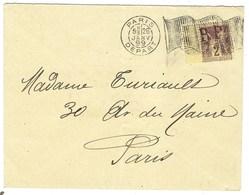 Sage, Oblitération Mécanique Grand Drapeau Dit Drapeau Noir Sur Lettre Du 26 Janvier 1899 - Postmark Collection (Covers)