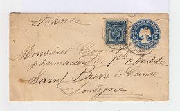 Sur Enveloppe Deux Timbres République Mexicaine: 5 C. Bleu Armoiries Et 5 C. Bleu Rond. (657) - Mexique
