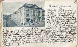 Slovakia - Lučenec Lizenz Losonczrol 1899,- Varoshaza.old Postcard Via Wien Bestellt Postmark - Slovaquie