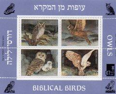 ISRAEL BLOC N° 34 1987 NEUF MNH OISEAUX BIBLIQUES - Blocs-feuillets