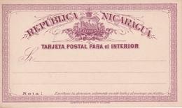 NICARAGUA  ENTIER POSTAL  CARTE - Nicaragua