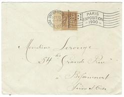 Sage Oblitération Mécanique, Exposition De 1900 Oblitération Du Bureau Américain TB - Postmark Collection (Covers)
