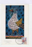 Carte Premier Jour Coq Gaulois Lurçat 10 Mars 1962. (660) - Cartes-Maximum