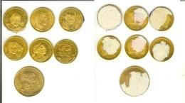 Lotto 7 Gettoni / Tocken / Medaglie Pubblicitari Personaggi...(Papa Giovanni XXIII, Spazio.....) - Italy