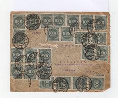 Allemagne Inflation. 59 Timbres 1000 Mark Deutches Reic Vert, Oblitérés Worms 1923. (661) - Lettres & Documents