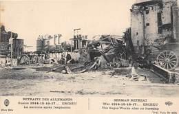 80-ERCHEU- RETRAITE DES ALLEMANDS GUERRE 14/15/16/17/ - LA SUCRERIE APRES L'EXPLOSION - France