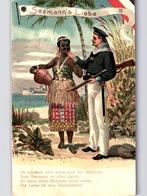 2 AK SEEMANN's LIEBE III+IV Ob Gelb Oder Braun Sind Die Mädchen... Deutsche Marine Um 1908 - Africa