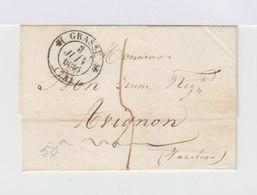 Sur Lettre Marque Postale. Grand CAD Grasse. Grand CAD Avignon. (662) - Marcophilie (Lettres)
