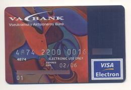 Credit Card Bankcard UKRAINE VA Bank Exp 02.2006 VISA Art Painting - Geldkarten (Ablauf Min. 10 Jahre)