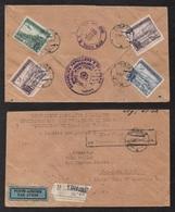 ALBANIE - ALBANIA - TIRANE / 1951 LETTRE RECOMMANDEE PAR AVION POUR LES USA  (ref 7122) - Albanie