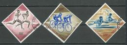 Guinée Poste Aérienne YT N°29/31 Sports Oblitéré ° - Guinea (1958-...)