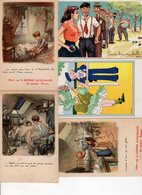 Beau Lot De 30 Cartes Postales Anciennes Illustrateur : Jean Chaperon , EA, Tempest , Guillaume - Cartes Postales