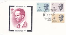 FDC - Baudouin 1er / Boudewijn 1ste  - 1961 -  Timbres N°2022/4 - FDC