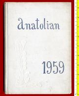 M3-33397 Thessalonica Greece 1959.Students Yearbook Greek-American School ANATOLIA - Books, Magazines, Comics