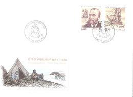 Norge Norway 2004 150 Years Birthday Otto Sverdrup, Polar Explorer  Mi  1502-1503  FDC - Norway