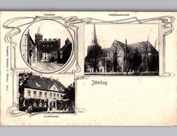 2 AK JÜTERBOG Um 1906 Mehrbildkarte A. Jänicke Landratsamt Etc. - Jüterbog