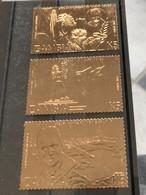 Zambia 1985, Goldcoloured, Complete Set, MNH. Cv 24 Euro - Zambia (1965-...)