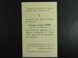 Gustave Petre épx Wouters Hal 1873 Etterbeek 1951 /42/ - Images Religieuses