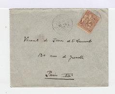 Sur Enveloppe 15 C. Brun Lilas Prince Albert 1er De Monaco. CAD Principauté. (666) - Marcophilie