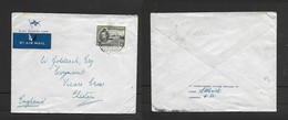 Gold Coast, GVIR, Elder Dempster Lines Cover, Air Mail, 1/=, > England - Gold Coast (...-1957)
