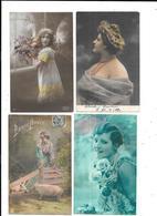 10899 - Lot De 200 CPA Fantaisies, Hommes Femmes, Enfants, Couples, - Cartes Postales