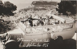 CARTE PHOTO MONACO AUTOCAR  1935 - Monaco