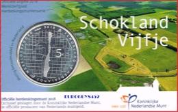 NEDERLAND - COINCARD 5 € 2018 UNC - SCHOKLAND VIJFJE - Pays-Bas
