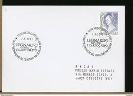 ITALIA - AREZZO -  LEONARDO DA VINCI - GENIO E CARTOGRAFO - Celebrità