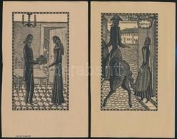 Cca 1900 Rosa Engel 15 Db Litográfia, Kőnyomat. Egy Történet 15 Képben. / 15 Lithographic Image. Page Sizes: 14x22 Cm - Engravings
