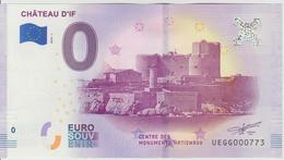 Billet Touristique 0 Euro Souvenir France 13 Chateau D'If 2018-1 N°UEGG000773 - EURO