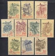UNGARN 1958 - MiNr: 1561-1570 Flugpost Komplett Used - Ungarn