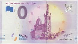 Billet Touristique 0 Euro Souvenir France 13 Notre Dame De La Garde 2018-4 N°UEAA000264 - EURO