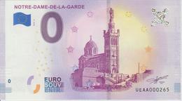 Billet Touristique 0 Euro Souvenir France 13 Notre Dame De La Garde 2018-4 N°UEAA000265 - EURO