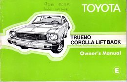Toyota Trueno Corolla Lift Back 1976 - Books, Magazines, Comics