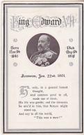 Postcard - Poem Tribute To King Edward VII - Posted 03-07-1910 - VG - Cartoline