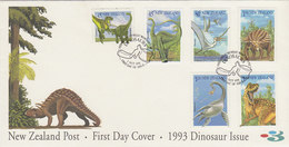 New Zealand 1993 Dinosaurs FDC - FDC