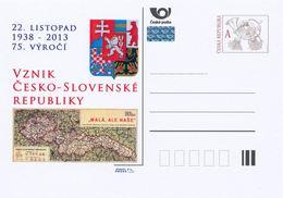 Rep. Ceca / Cart. Postali (Pre2013/56) La Seconda Repubblica Cecoslovacca (1938-1939), 22 Novembre 1938; 75 Anni - Storia