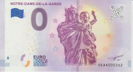 Billet Touristique 0 Euro Souvenir France 13 Notre Dame De La Garde 2018-5 N°UEAA000262 - EURO