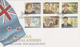 New Zealand 1995 Famous New Zealanders FDC - FDC