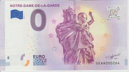 Billet Touristique 0 Euro Souvenir France 13 Notre Dame De La Garde 2018-5 N°UEAA000264 - Essais Privés / Non-officiels