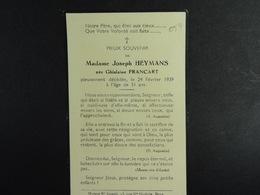 Ghislaine Francart épse Heymans ??? 1939 /054/ - Images Religieuses